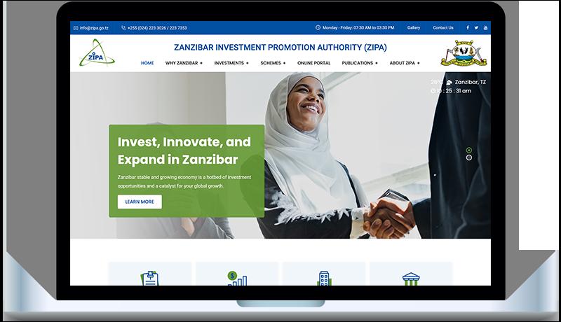Affordable web design in Zanzibar